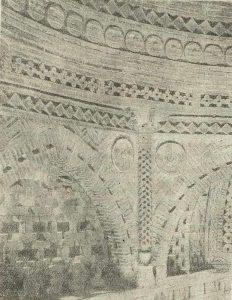 Мавзолей Исмаила Саманида в Бухаре. X в. Часть пояса тромпов