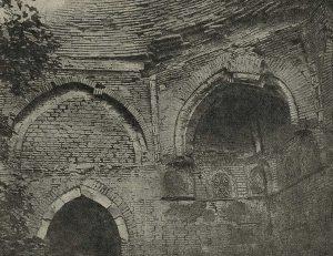 Средний мазар в Узгене. XI-XII вв. Орнаментация углового тромпа