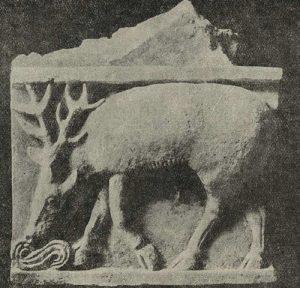 Рельеф из стука. Из раскопок в Тепе-Гиссар близ Дамгана в северном Иране. V в. н.э.