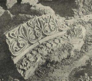 Фрагмент архивольта. Резьба по стуку. Тепе-Гиссар близ Дамгана в северном Иране
