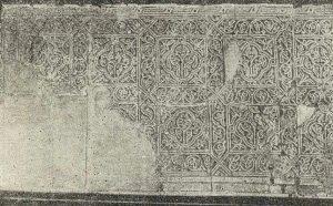 Деталь резной стуковой панели с Афрасиаба. X в.