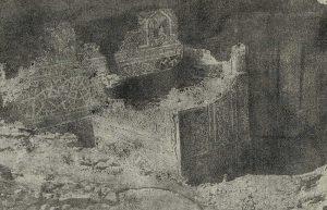 Термез. Дворец термезских правителей. Общий вид раскопанной в 1928 г. части дворца