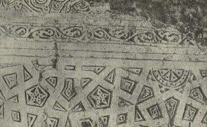 Термез. Дворец термезских правителей. Северая стена. Остатки изображения животного