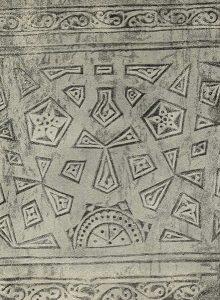 Термез. Дворец термезских правителей. Орнаментация нижней части южной стены