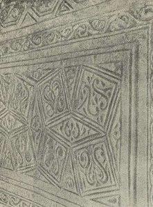 Термез. Дворец термезских правителей. Орнаментация пилона северной стороны Приемного зала