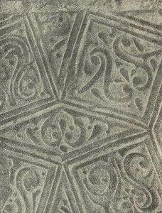 Термез. Дворец термезских правителей. Орнаментация пилона северной стороны Приемного зала. Деталь
