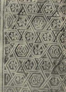 Термез. Дворец термезских правителей. Орнаментация пилона северной стороны. Деталь