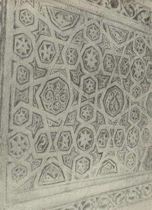 Термез. Дворец термезских правителей. Деталь орнаментация пилона северной стороны