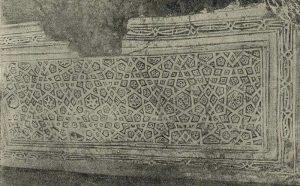 Термез. Дворец термезских правителей. Панно среднего пилона восточной стороны зала