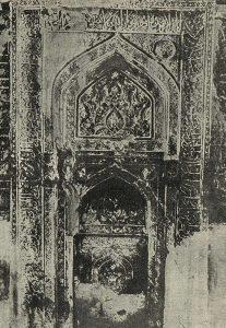 Михраб резного стука в мечети в Натанзе. XII в.