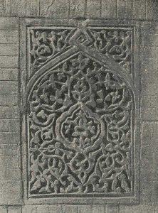Резное терракотовое надгробие в Наринджане. Каракалпакия. XIV в. Деталь орнаментации