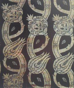 """Фрагмент турецкой (османской) ткани с композицией """"долашмалы"""""""