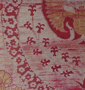 Фрагмент турецкой (османской) ткани с мотивом гиацинта