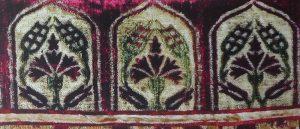 Фрагмент турецкой (османской) ткани с мотивом бутона розы