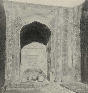 Мавзолей Ходжа-Ахмада. Шах-и-Зинда. Самарканд. XIV в. Фото XIX в.