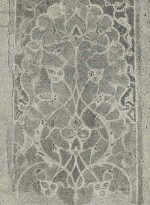 Самарканд. Шах-и-Зинда. Мавзолей Ширин-бек-Ака. 1385 г. Деталь изразцовой мозаики