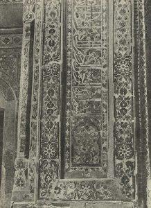 Самарканд. Шах-и-Зинда. Мавзолей 1405 г. Деталь мозаичной облицовки