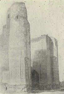 Шахрисябс. Руины дворца Ак-Сарай. 1380 г.
