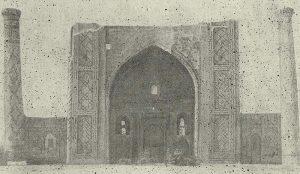 Самарканд. Медресе Улуг-Бека. 1420 г. Общий вид