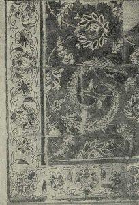 Деталь майолики с портала медресе Базар-и-Гусфанд