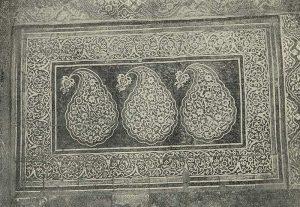 Деталь майоликовой облицовки дворца Таш-Хоули в Хиве