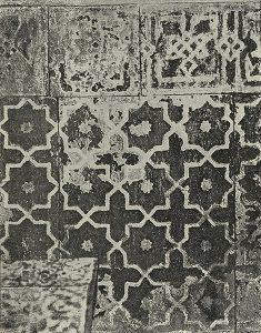 Стенная роспись в гробнице Куссама в Шах-и-Зинде в Самарканде