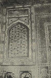 Бухара. Мечеть Балянд. Вторая половина XVI в. Стенная роспись около михрабной ниши
