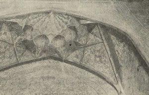 Самарканд. Медресе Шир-Дор. 1618 г. Деталь стенописи в мечети