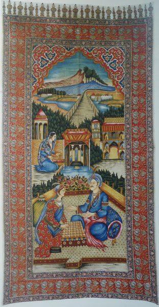 """Каламкар """"Бахрам Гур в замке у индийской принцессы"""" (Иран)"""