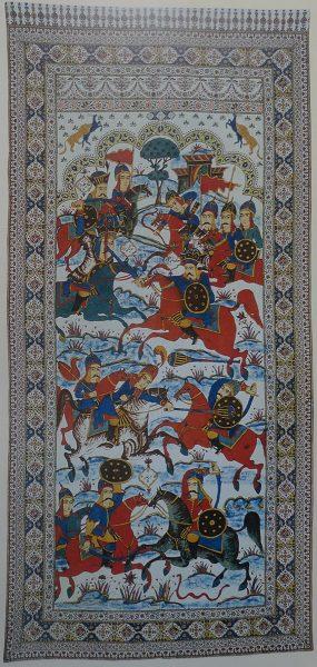 """Каламкар """"Битва Сама ибн Фаридуна"""" (Иран)"""
