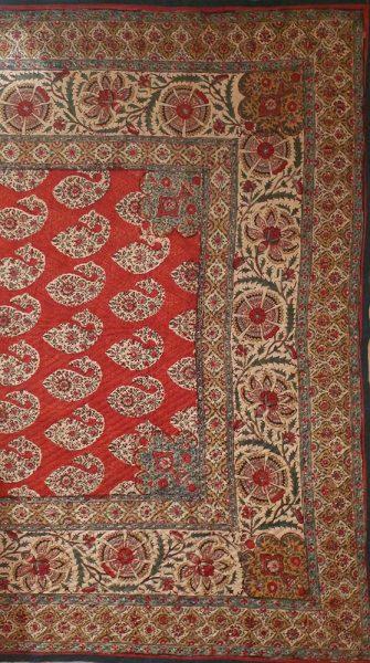 Фрагмент набойки. Хлопок, штамп. Иран, XIX в.