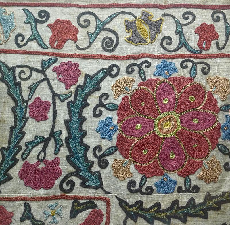Текстиль, костюм, детали костюма на выставке «Узбекистан. На перекрестке культур» в Музее истории религии