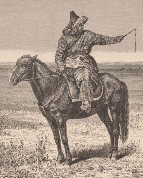 Киргиз на лошади