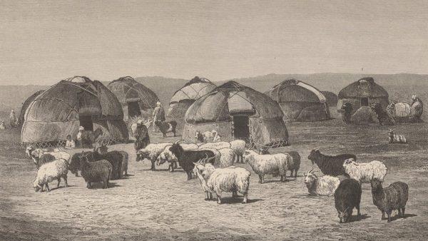 Киргизы в степи