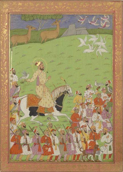 Султан Азам Шах (третий сын императора Аурангзеба) на охоте