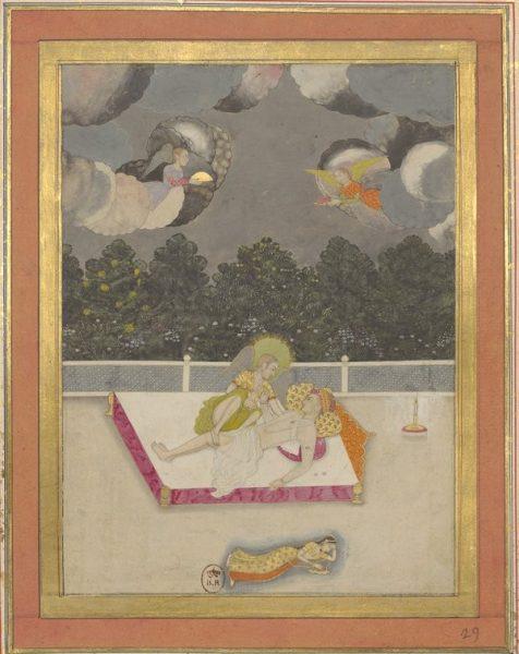 Архангел Гавриил пробудил пророка Мухаммеда, чтобы совершить с ним восхождение на небеса. XVIII в.