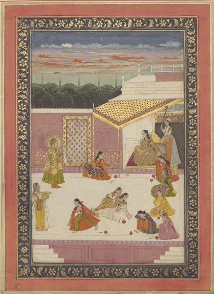 Индийская интерпретация одной из классических сцен романа об Иосифе и Зулейке