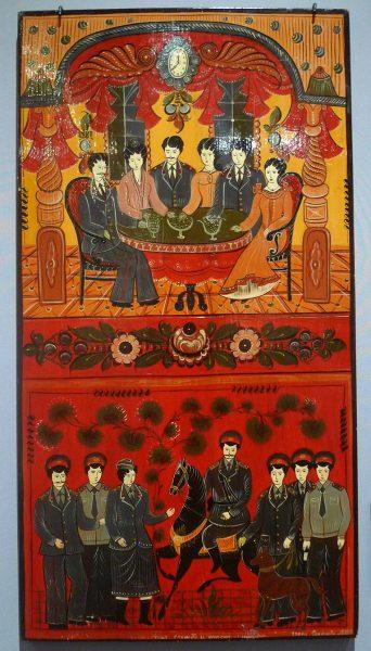 """Панно """"Наша служба и опасна и трудна"""". А.В. Соколова. 1987 г."""