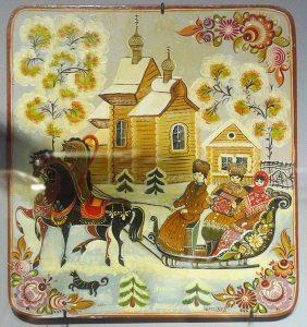 """Панно """"Зима"""". В.А. Черткова. 1990-е гг."""