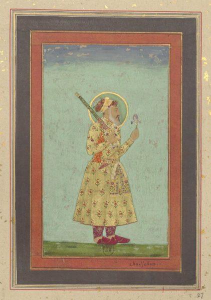 Император Шах Джахан с цветком ириса. Могольская школа, около 1655 г.